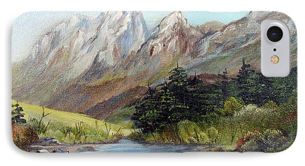 Mountain River Phone Case by Dorothy Maier