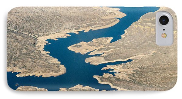 Mountain River From The Air Phone Case by Darleen Stry