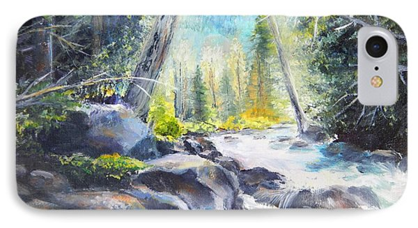 Mountain River Glow IPhone Case by Patti Gordon