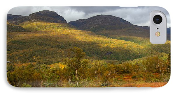 Mountain Scenery In Fall Phone Case by Gry Thunes