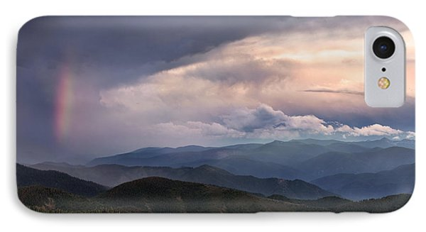 Mountain Storm And Rainbow Phone Case by Leland D Howard