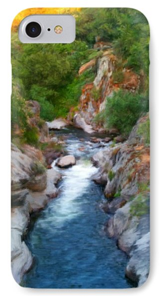 IPhone Case featuring the painting Mountain Stream by Bruce Nutting