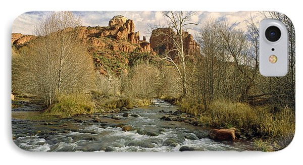 Mountain Stream By Cathedral Rock In Sedona Arizona IPhone Case by Randall Nyhof