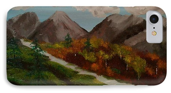 IPhone Case featuring the painting Mountain Stream by Denise Tomasura