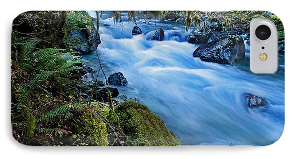 IPhone Case featuring the photograph Mountain Stream In Forest - Nooksack River Washington by Valerie Garner