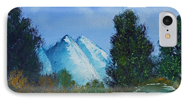 IPhone Case featuring the painting Mountain Stream by Jennifer Muller