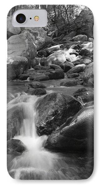 Mountain Stream Monochrome IPhone Case