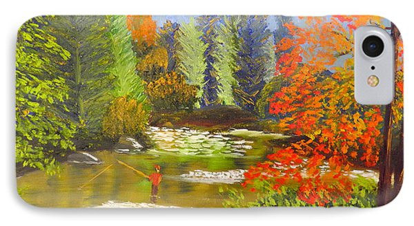 IPhone Case featuring the painting Mountain Stream by Pamela  Meredith