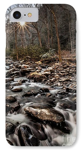 IPhone Case featuring the photograph Icy Mountain Stream by Debbie Green