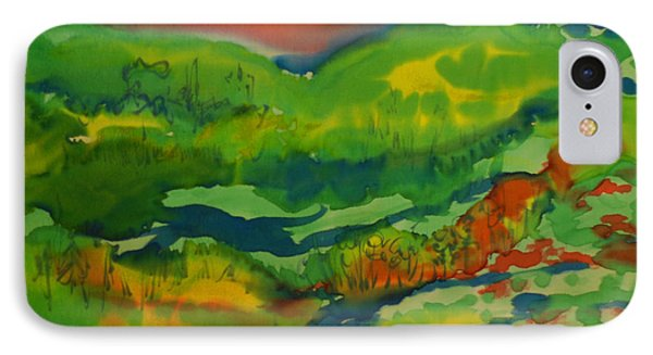 IPhone Case featuring the painting Mountain Streams by Susan D Moody
