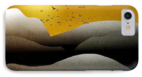Mountain Sunrise Landscape Art IPhone Case