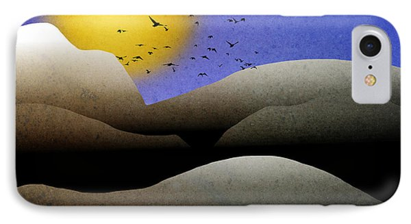 Mountain Sunset Landscape Art Phone Case by Christina Rollo