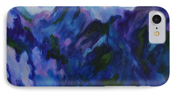 IPhone Case featuring the painting Mountain Symphony by Alison Caltrider
