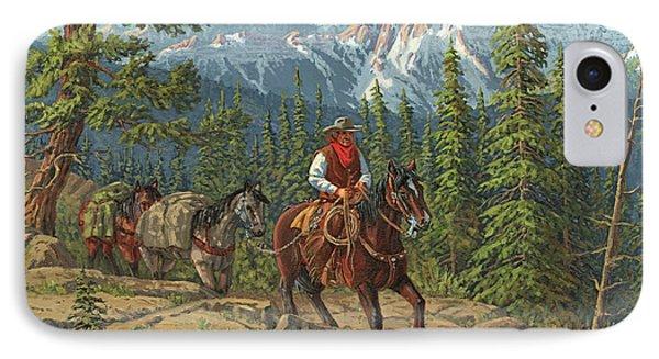Mountain Traveler Phone Case by Randy Follis