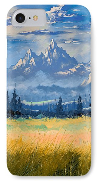 Mountain Valley IPhone Case by Richard Faulkner