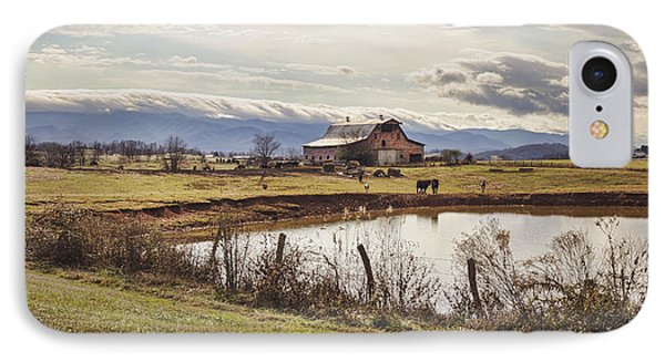 Mountain View Barn Phone Case by Heather Applegate