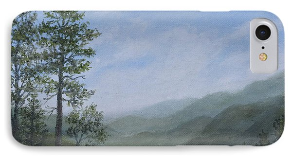 IPhone Case featuring the painting Mountain Vista 1 By K. Mcdermott by Kathleen McDermott