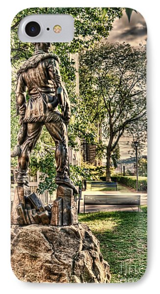 Mountaineer Statue At Lair IPhone Case by Dan Friend