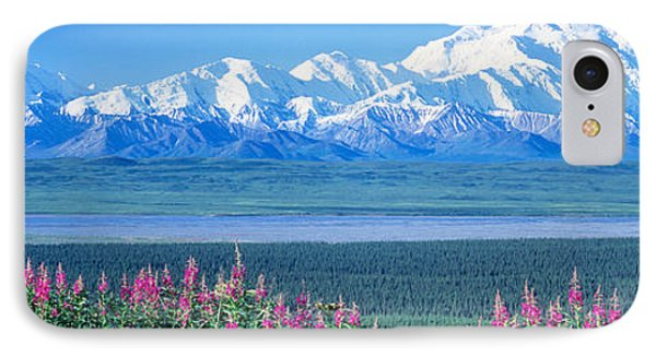 Mountains & Lake Denali National Park IPhone Case by Panoramic Images
