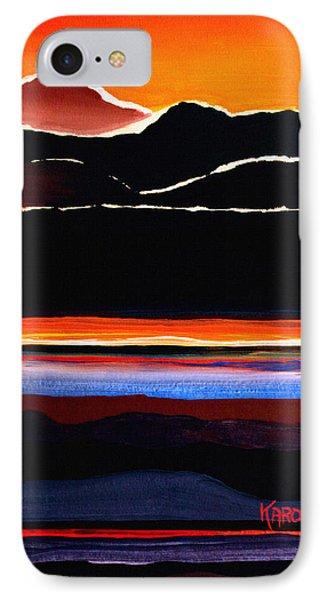 Mountains Abstract Phone Case by Karon Melillo DeVega