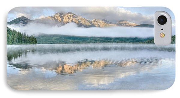 Mountains And Fog IPhone Case by Wanda Krack