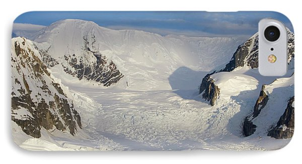 Mountains And Glacier At Sunset Phone Case by Suzi Eszterhas