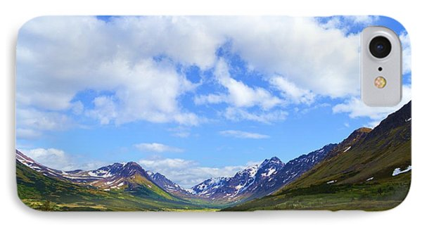 Mountains In Anchorage Alaska IPhone Case by Dacia Doroff