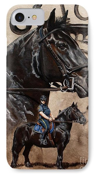 Mounted Patrol IPhone Case by Pat DeLong