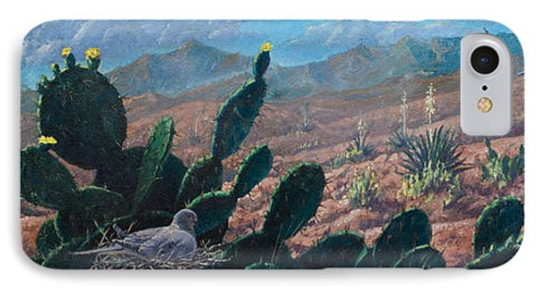 IPhone Case featuring the painting Mourning Dove Desert Sands by Rob Corsetti