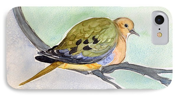 IPhone Case featuring the painting Mourning Dove by Katherine Miller