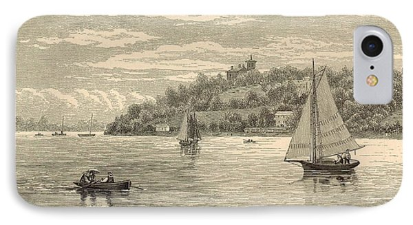 Mouth Of The Shrewsbury River 1872 Engraving Phone Case by Antique Engravings