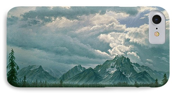 Moving Clouds-mount Moran Phone Case by Paul Krapf
