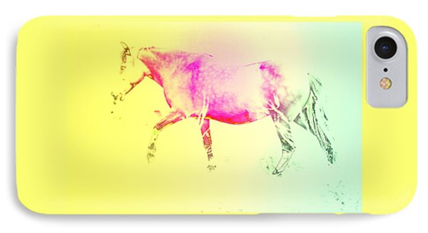 The Moving Spirit Within A Horse  IPhone Case by Hilde Widerberg