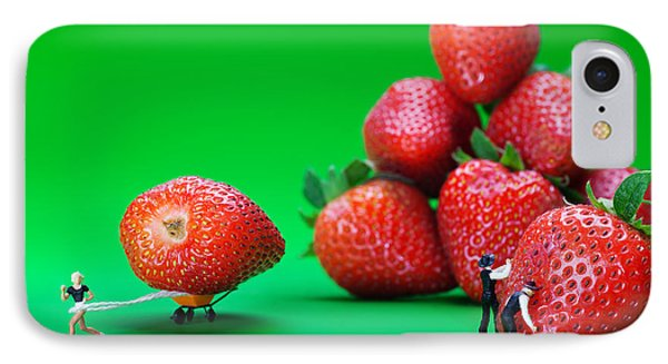 IPhone Case featuring the photograph Moving Strawberries To Depict Friction Food Physics by Paul Ge