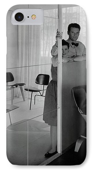 Mr And Mrs Charles Eames At The Museum Of Modern IPhone Case by George Platt Lynes