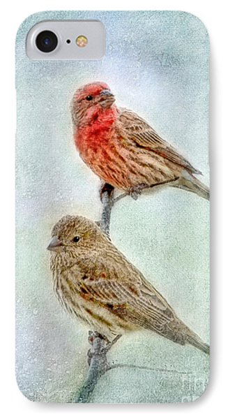 Mr And Mrs House Finch Digital Paint Phone Case by Debbie Portwood