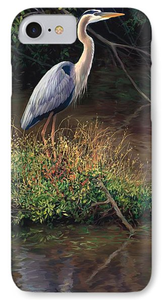 Mr Blue Heron IPhone Case by Laurie Hein