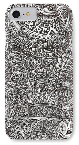 IPhone Case featuring the mixed media Mr Chameleon by Giovanni Caputo