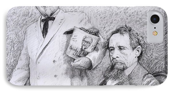 Mr Chicken And Mr Dickens Phone Case by James W Johnson