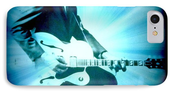 Mr Chuck Berry Blueberry Hill Style Edited IPhone Case by Kelly Awad