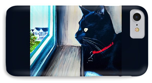 Mr Kitty IPhone Case by Patricia L Davidson