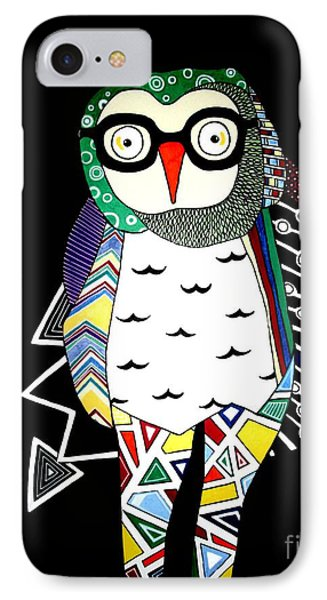 Mr. Owl IPhone Case by Amy Sorrell