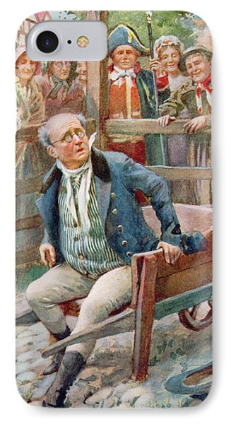 Mr Pickwick In The Pound, Illustration For Character Sketches From Dickens Compiled By B.w. Matz IPhone Case by Harold Copping