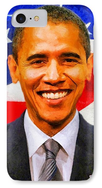 IPhone Case featuring the digital art Mr. President by Kai Saarto
