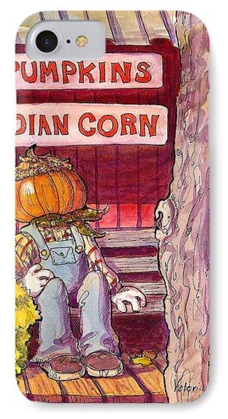 Mr. Pumpkin IPhone Case by Victoria Lisi