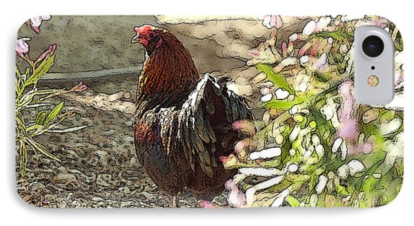 Mr. Rooster Takes A Stroll Phone Case by Artist and Photographer Laura Wrede
