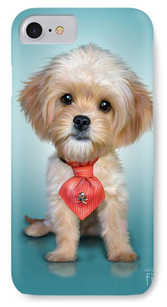 Mr. Toby Waffles The Cavapoo Phone Case by Catia Cho