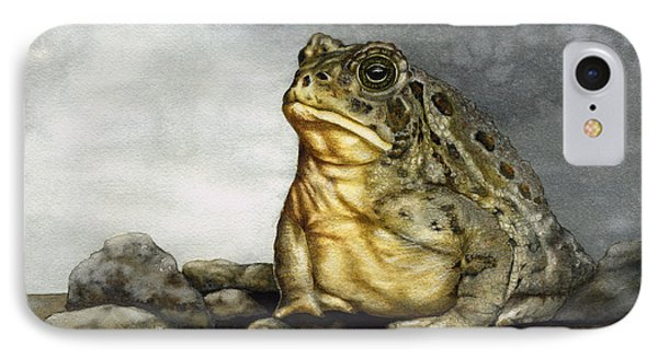 Mr. Woodhouse Toad Phone Case by Nan Wright