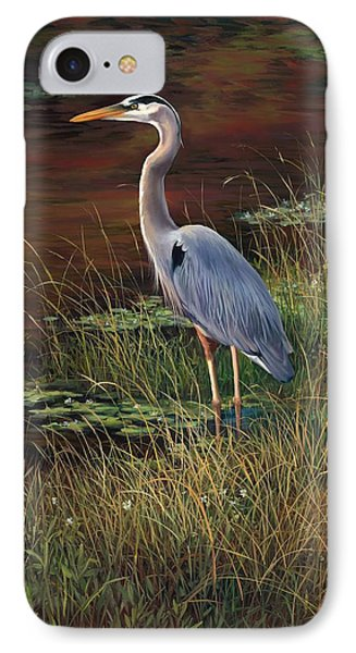 Mrs Blue Heron IPhone Case by Laurie Hein