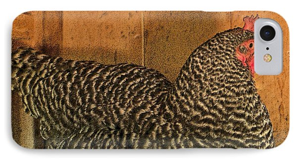 Mrs. Chicken Laying On Her Nest Phone Case by Artist and Photographer Laura Wrede